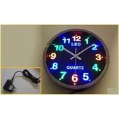 Ρολόι τοίχου ευανάγνωστο - επιλογή φωτειζόμενου καντράν με πολύχρωμα LED