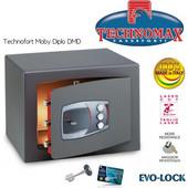 Technomax Χρηματοκιβώτιο επιδαπέδιο DMD Diplo, με κλειδί και κωδικό (2 χρηστών)