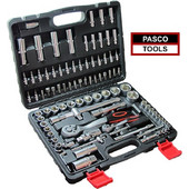 PASCO TOOLS 1038 Σετ καστάνιες με καρυδάκια και μύτες 1/2 & 1/4 σε βαλίτσα μεταφοράς