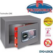Technomax Χρηματοκιβώτιο πυρασφαλείας DPE, με ηλεκτρονικό κωδικό