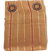 Κουρτίνα διπλή υφασμάτινη 140Χ260 εκ. χρ. καφέ