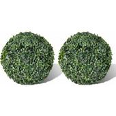 vidaXL Θάμνος πυξάρι σε σχήμα μπάλας με τεχνητά φύλλα