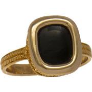Ανδρικό δαχτυλίδι χρυσό 14 καράτια με μαύρο όνυχα
