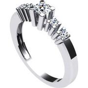 Δαχτυλίδι μονόπετρο γυναικείο σε λευκό χρυσό Κ18 με μπριγιάν