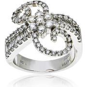 Δαχτυλίδι Λευκό Χρυσό 18 Καρατίων Κ18 με Διαμάντια Μπριγιάν, 012899