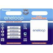 1x4 Panasonic Eneloop Micro AAA 750 mAh + Battery Case