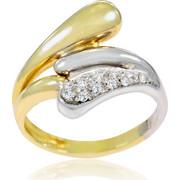 Δαχτυλίδι Κ14 με Ζιργκόν, 022041
