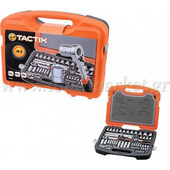 Tactix - Καρυδάκια 1/4 , 1/2 & Μύτες CR-V 73 τεμ. σε πλαστική κασετίνα 365055