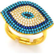 Ασημένιο δαχτυλίδι με μάτι AD-3336G