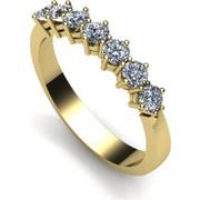 Δαχτυλίδι σειρέ σε λευκό χρυσό Κ18 με μπριγιάν