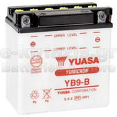 Μπαταρία μοτοσυκλετών YUASA Yumicron YB9-B (ΜΕ ΥΓΡΑ) 12V 9 (10HR) - 130 CCA (EN) εκκίνησης