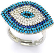 Ασημένιο δαχτυλίδι με μάτι AD-3336L