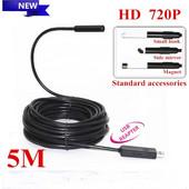 Ενδοσκοπική αδιάβροχη κάμερα USB 10mm με καλώδιο 5 μέτρα 1.3MP 720P HD - Cst EH-05