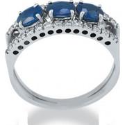 Δαχτυλίδι 18 Καρατίων με Διαμάντια και Ζαφείρια