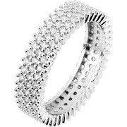 Λευκόχρυσο ολόβερο δαχτυλίδι Κ14 με ζιργκόν