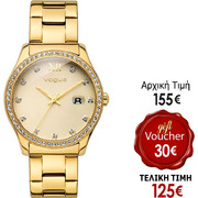 Vogue Glam Crystals Gold Stainless Steel Bracelet 81019.1