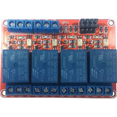 4-Channel Relay Board, Opto Isolated, High/Low Trigger