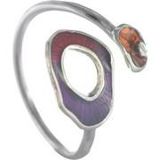 Χειροποίητο δαχτυλίδι από ασήμι με σμάλτο