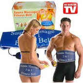 Ζώνη Αδυνατίσματος Διπλής Δράσης Sauna Massage 2 σε 1 Fitness Belt