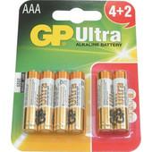 GP Ultra αλκαλική μπαταρία AAA 6-PACK