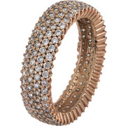 Ροζ gold σειρέ γυναικείο δαχτυλίδι Κ14 022303 022303 Χρυσός 14 Καράτια