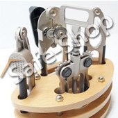 Σετ Εργαλείων Κουζίνας 5ΤΜΧ Με Ξύλινη Βάση - OEM - 001.4806