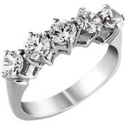 Σειρέ δαχτυλίδι Κ18 λευκόχρυσο με διαμάντια SBR001