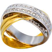 Δαχτυλίδι Κ18 με Διαμάντια, 000841