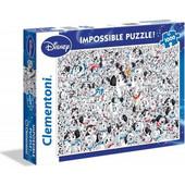Clementoni Παζλ 1000τεμ. Impossible 101 Dalmatians 1260-39358