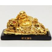 Χρυσός Βούδας Προστασίας και Ευημερίας Σε Δράκο