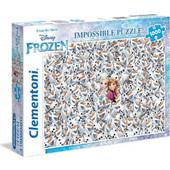 Clementoni Παζλ 1000τεμ. Impossible Disney Frozen 1260-39360