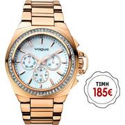 Vogue Etoile Crystal Rose Gold Stainless Steel Bracelet 97003/2