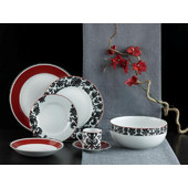 SP Tableware Damask Red Σετ 40 τεμ. Σερβίτσιο Πορσελάνη
