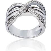 Δαχτυλίδι Κ18 με Διαμάντια, 003504