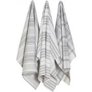 Πετσέτες κουζίνας βαμβακερές άσπρες/γκρι 61 εκατ. σετ 3 τμχ Jumbo NOW DESIGNS