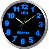 Εντυπωσιακό Ρολόι Τοίχου, με Μπλε Φωτισμό LED - OEM - 00010051