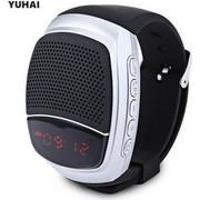 Σπορ Μουσικο Ρολοι B90 YUHAI Με Δυνατοτητα Handsfree FM Radio Ηχειο Με Led Οθονη Ασημι