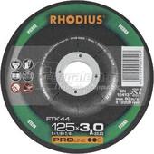 Δισκος κοπης πετρας Φ115x3mm RHODIUS FTK44 (10τεμ.)