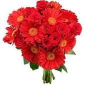Πάθος για Πορτοκαλί Ζέρμπερες και τριαντάφυλλα σε πορτοκαλί αποχρώσεις
