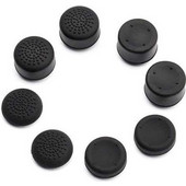Ornate Analog Controller Thumbstick Silicone Grip Cap Cover 8X Black - Xbox One Controller