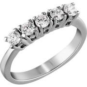 Σειρέ δαχτυλίδι Κ18 λευκόχρυσο με διαμάντια SBR002