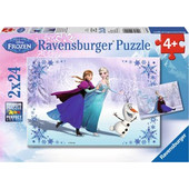 Ravensburger Παζλ - Disney Ψυχρα & Αναποδα Αδελφες για Παντα (2x24 κομμ.) - 09115 Toys