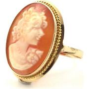 Χρυσό Δαχτυλίδι 14 Καρατίων με Πραγματικό Cameo rng143740noitcam