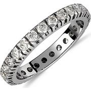 Δαχτυλίδι από λευκό χρυσό 18 καρατίων με διαμάντια. TH01866