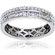 Δαχτυλίδι Ολόβερο Λευκό Χρυσό 18 Καρατίων Κ18 με Διαμάντια Μπριγιάν, 009060