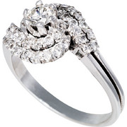 Δαχτυλίδι Κ18 με Διαμάντια, 000992