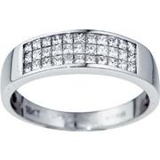 Δαχτυλίδι Σειρέ Λευκό Χρυσό 18 Καρατίων Κ18 με Διαμάντια Μπριγιάν, 009066