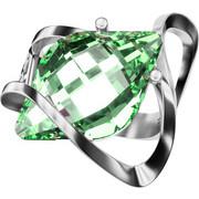 Ασημένιο δαχτυλίδι 925 με πράσινη πέτρα Swarovski AD-15835L1