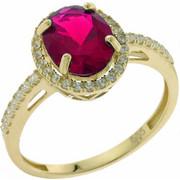 Χρυσό Δαχτυλίδι 14 Καρατίων στο Χρώμα του Ρουμπινιού rng66865karv