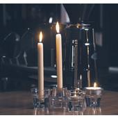 bolsius Διάφανο Γυάλινο Κηροπήγιο 4 σε 1 για Ρεσώ, Κεριά Κηροπηγίου & Κυλίνδρους Σετ 2 τμχ
